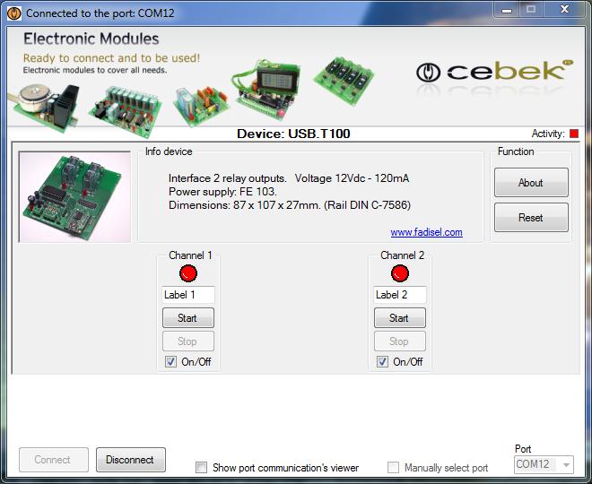 USB T100 | Cebek Interface